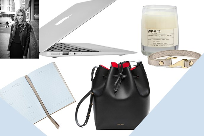 """<strong>JANNA O'TOOLE, BEAUTY & FITNESS DIRECTOR</strong><br><br> I've had my eye on the original bucket for years, and the new mini continues to be impossible to track down, which of course just makes me want it even more.<br> <em>Bag, $670, Mansur Gavriel, <a href=""""www.net-a-porter.com """">net-a-porter.com</a> </em> <br><br> This leather wrap bracelet is not only chic, but charitable- every cent goes to improving the lives of women and children in Southern Uganda.<br> <em>Bracelet, $2, Cotton On Foundation, <a href=""""http://cottonon.com/AU/p/foundation/hook-em-wrist/2092310501993.html#start=1"""">cottonon.com </a> </em> <br><br> I'm in desperate need of a laptop upgrade, and this featherweight Air ticks all the boxes.<br> <em>11-inch MacBook Air, from $1099, Apple, <a href=""""http://store.apple.com/au/buy-mac/macbook-air?afid=p238%7Cs7vNowdRG-dc_mtid_18707vxu38484_pcrid_52946848222_&cid=aos-au-kwg-mac"""">apple.com</a> </em> <br><br> I've always loved Santal, but after discovering it's the fragrance of Mr and Mrs Ryan Reynolds' house, I figure I should probably have one on hand just in case they pop by.<br> <em>Santal 26 Candle, $94, Le Labo, <a href=""""http://mecca.com.au/le-labo/santal-26-candle/I-007183.html"""">mecca.com.au</a> </em> <br><br> A gorgeous diary that's perfect for keeping my appointments and notes in check.<br> <em>Smythson 2015 Soho Diary, $317, Neiman Marcus, <a href=""""http://www.neimanmarcus.com/en-au/Smythson-2015-Soho-Diary-Gray/prod173870125/p.prod?srccode=cii_201700441&cpncode=43-10204390-2&ecid=NICIGoogleProductAdsAUS """">neimanmarcus.com</a> </em>"""