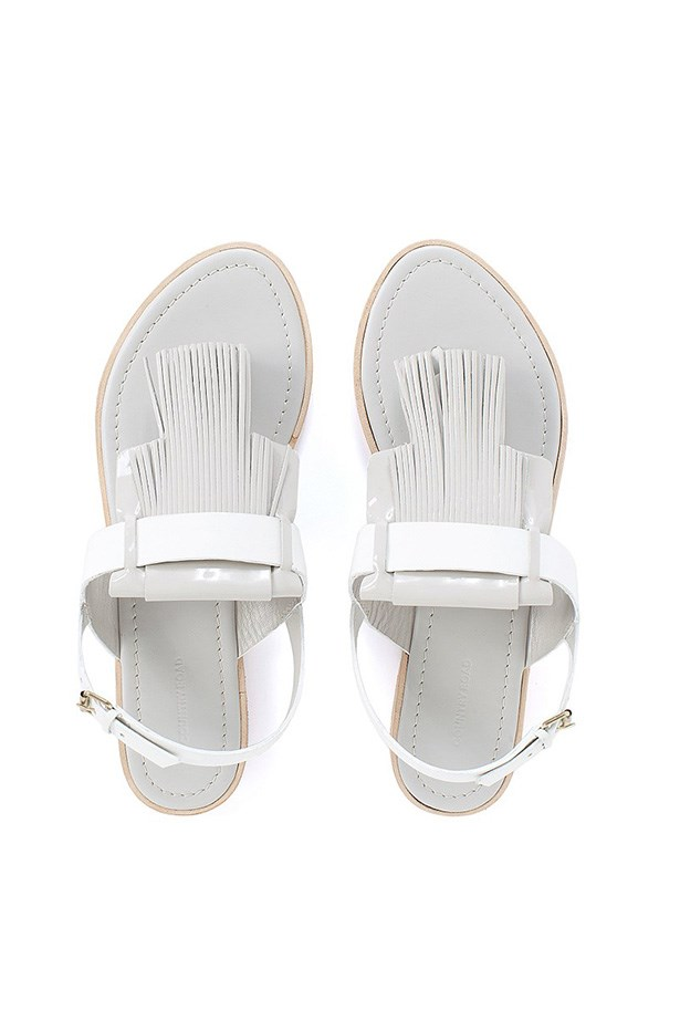 "Sandal, $129, Country Road, <a href=""http://www.countryroad.com.au/shop/woman/shoes/sandals-and-thongs/anna-fringe-sandal-60168383-51"">countryroad.com.au</a>"