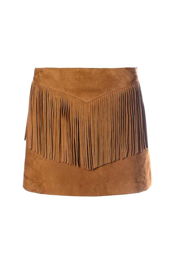 "Skirt, $2321, Saint Laurent, <a href=""http://www.matchesfashion.com/product/1004650 "">matchesfashion.com</a>"