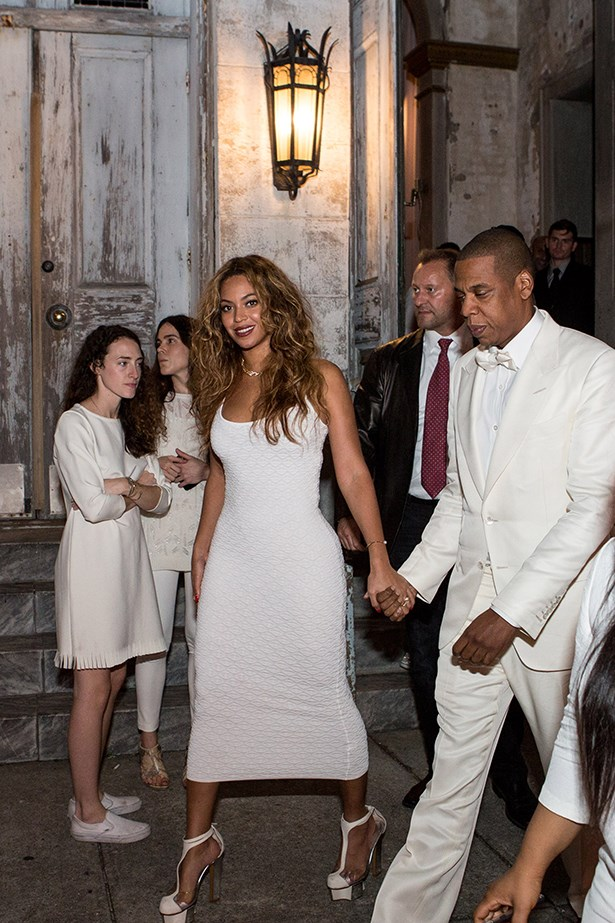 Beyoncé and Jay-Z heading to the reception