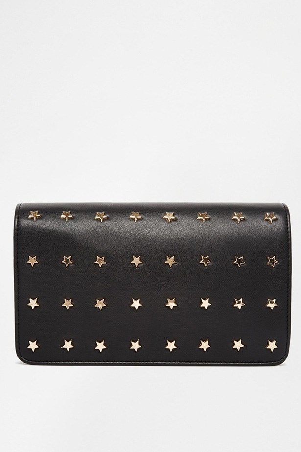 "Clutch, $42, ASOS, <a href=""http://www.asos.com/ASOS/ASOS-Star-Studded-Clutch-Bag/Prod/pgeproduct.aspx?iid=4499703&CTARef=Recently%20Viewe"">asos.com</a>"