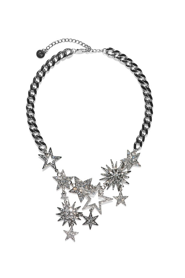 "Necklace, $159, Cue, <a href=""https://www.cue.cc/shop/Product/Galaxy-Necklace-P00055-S14/219443"">cue.cc</a>"