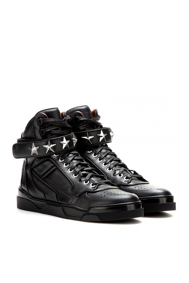 "High tops, $828, Givenchy, <a href=""http://www.mytheresa.com/int_en/tyson-stars-leather-high-tops.html?utm_source=affiliate&utm_medium=affiliate.cj.us"">mytheresa.com</a>"