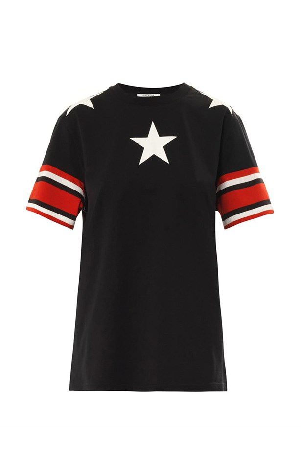 "T-shirt, $660, Givenchy, <a href=""http://www.matchesfashion.com/product/189024"">matchesfashion.com</a>"