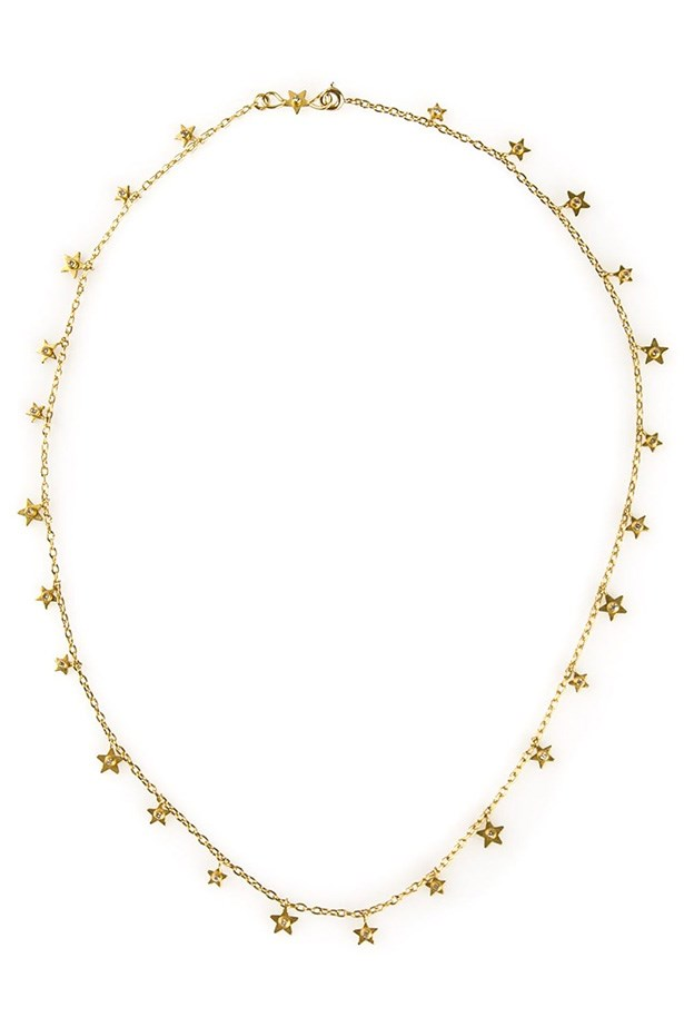 "Necklace, $4680, Marie Helene De Taillac, <a href=""http://www.farfetch.com/au/shopping/women/marie-helene-de-taillac-precious-star-necklace-item-10821355.aspx?storeid=9218&ffref=lp_46_"">farfetch.com</a>"