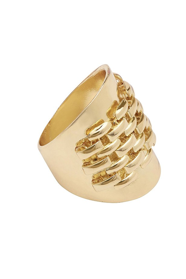 "Ring, $24.95, Witchery, <a href=""http://www.witchery.com.au/shop/woman/accessories/new-in/watch-chain-ring-60170622"">witchery.com.au</a>"