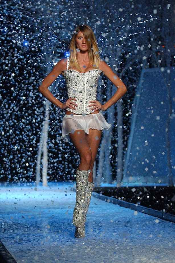 The Victoria's Secret we all know and love <br><br> Angel Gisele Bundchen walks in the 2001 show