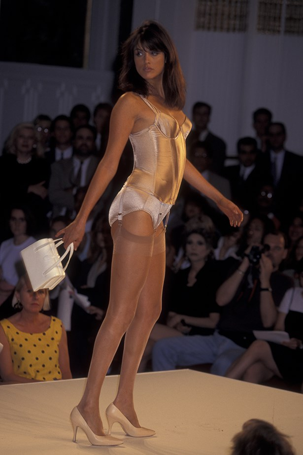 Helena Christensen in the 1995 Victoria's Secret show