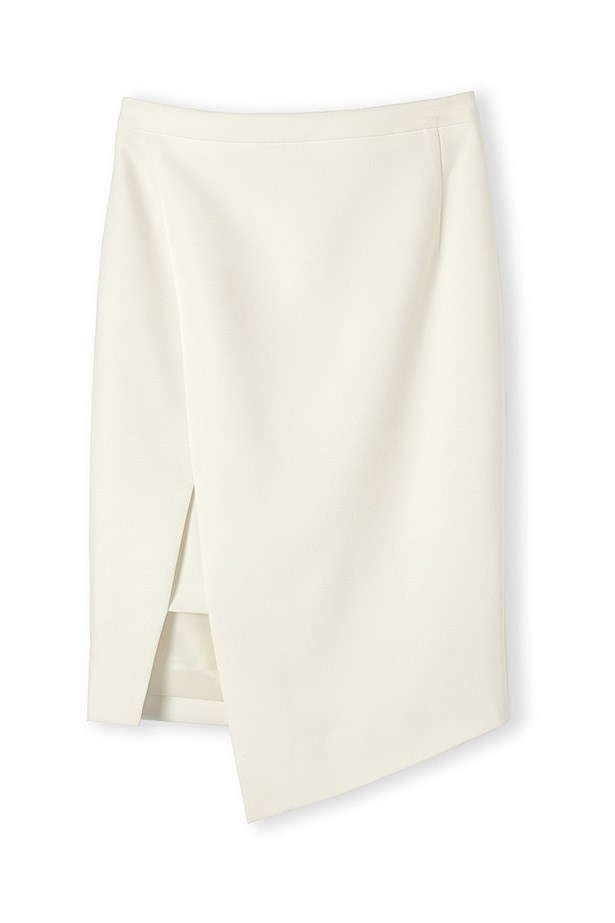 "Skirt, $99.95, Country Road, <a href=""http://www.countryroad.com.au/shop/woman/clothing/60169254/Minimal-Wrap-Skirt.html"">countryroad.com.au</a>"