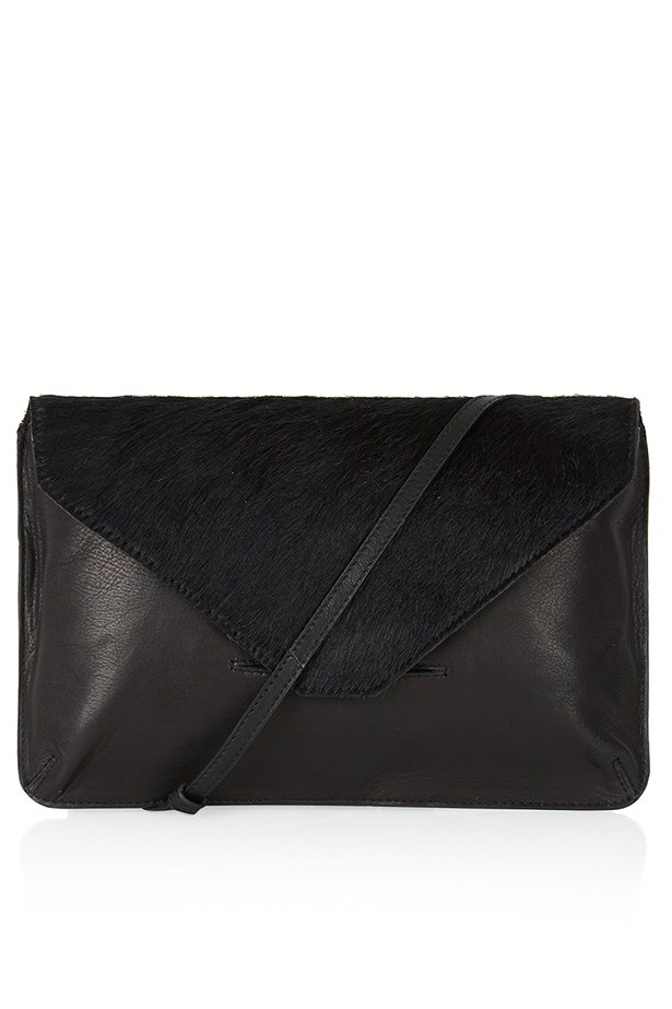 "Clutch, $88, Top Shop, <a href=""http://www.topshop.com/en/tsuk/product/new-in-this-week-2169932/pony-hair-clutch-bag-3660748?bi=801&ps=200 "">topshop.com</a>"