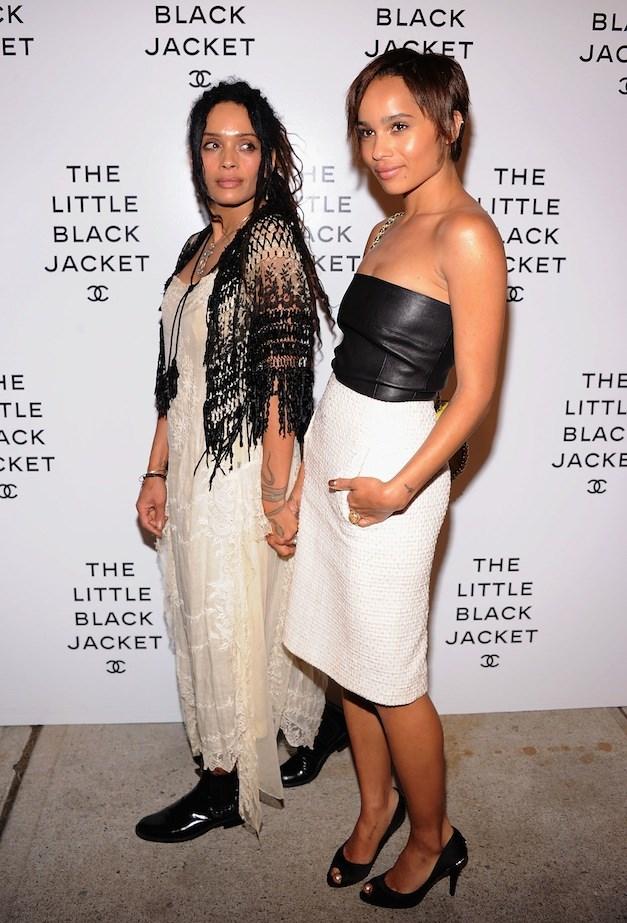 Lisa Bonet and Zoe Kravitz