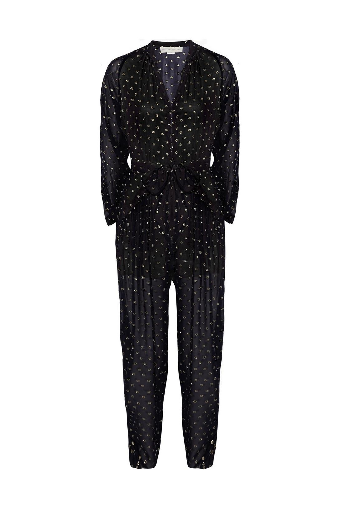 "Jumpsuit, $2,790, Stella McCartney, <a href=""http://www.net-a-porter.com/product/504612/Stella_McCartney/monia-silk-blend-fil-coupe-jumpsuit"">net-a-porter.com</a>"