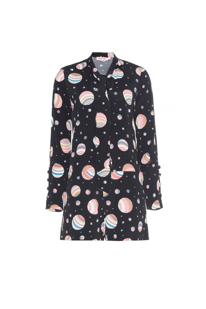 "Playsuit, $695, See By Chloé, <a href=""http://www.mytheresa.com/en-au/printed-crepe-playsuit.html "">mytheresa.com</a>"