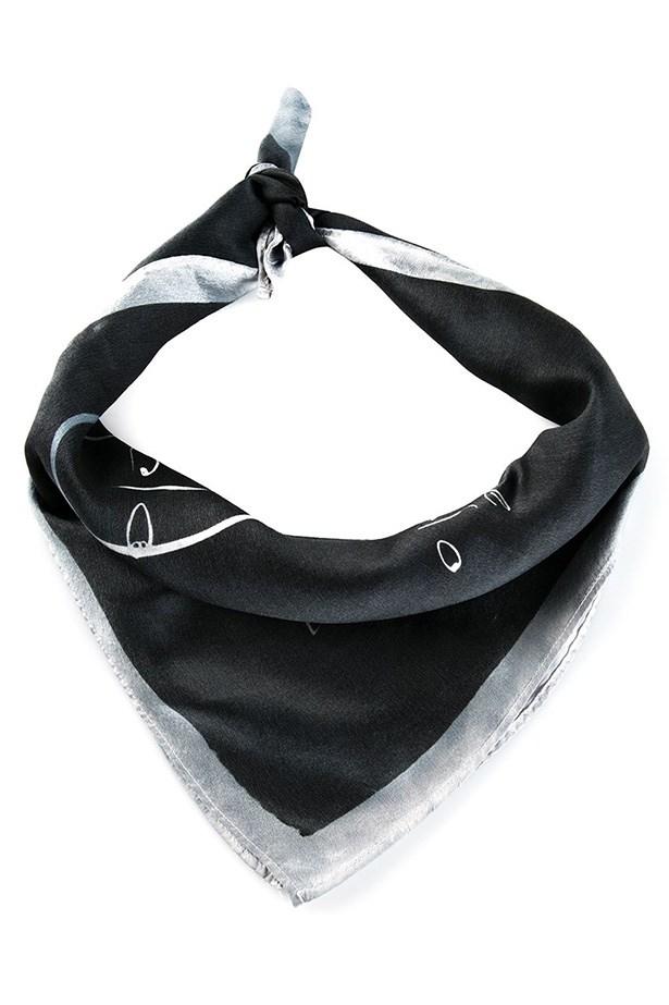 "Scarf, $234, Kelly Wearstler, <a href=""http://www.farfetch.com/au/shopping/women/kelly-wearstler-sailboat-scarf-item-10862355.aspx?storeid=9718&ffref=pp_recview"">farfetch.com</a>"