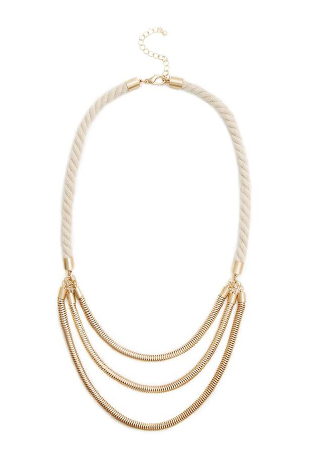 "Necklace, $65, Jigsaw, <a href=""http://jigsawclothing.com.au/accessories/product/theia-necklace/J606.14S.12567_1_1"">jigsawclothing.com.au</a>"