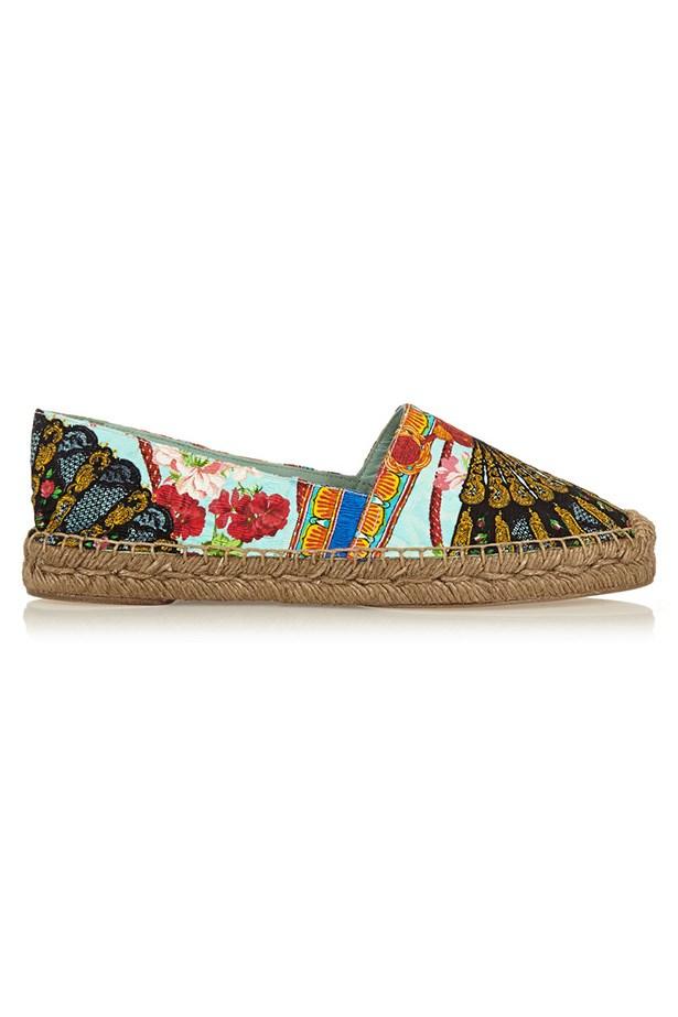 "Espadrilles, $595, Dolce & Gabbana, <a href=""http://www.net-a-porter.com/au/en/product/496333"">net-a-porter.com</a>"