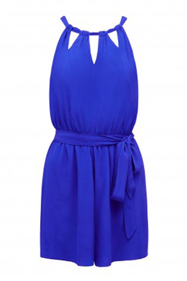 """Jumpsuit, $69.99, Forever New, <a href=""""http://www.forevernew.com.au/louisa-keyhole-playsuit-226763?colour=Palace+Blue"""">forevernew.com.au</a>"""