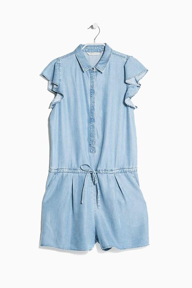 """Jumpsuit, $89.95, Mango, <a href=""""http://shop.mango.com/AU/p0/women/clothing/jumpsuits/tencel-short-jumpsuit/?id=31080291_TM&n=1&s=prendas.monos&ident=0__0_1417656032516&ts=1417656032516"""">mango.com</a>"""