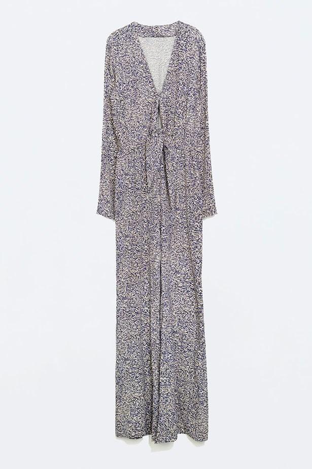 """Jumpsuit, $118, Zara. <a href=""""http://www.zara.com/us/en/woman/jumpsuits/long-sleeved-bell-bottom-jumpsuit-c663016p2241531.html"""">zara.com</a>"""