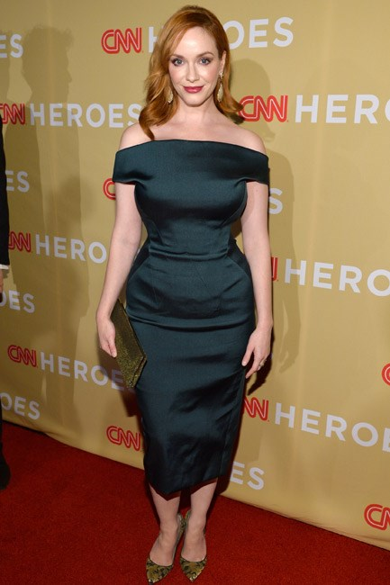 40s-era on the bottom and so-now on the top, Christina Hendricks looked retro fabulous in Zac Posen.