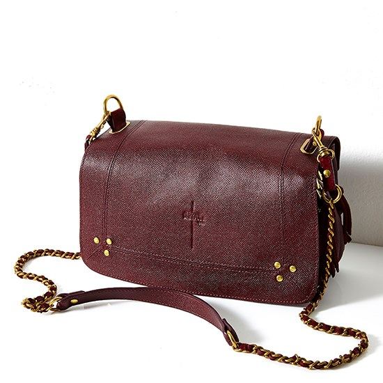 "<a href=""http://www.net-a-porter.com/ru/en/product/456874/Jerome_Dreyfuss/bobi-textured-leather-and-suede-shoulder-bag"">Jérôme Dreyfuss 'Bobi' in Caviar Bordeaux</a>."