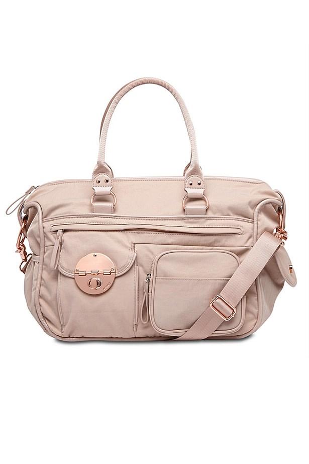 """Bag, $249, Mimco, <a href=""""http://www.mimco.com.au/shop/bags/baby-bags/lucid-baby-bag-60162781-695"""">mimco.com.au</a>"""
