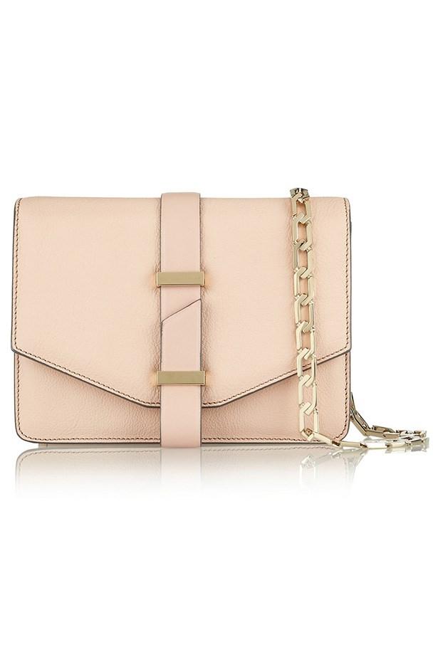 "Bag, $2510, Victoria Beckham, <a href=""http://www.net-a-porter.com/product/463094/Victoria_Beckham/textured-leather-mini-satchel/"">net-a-porter.com</a>"