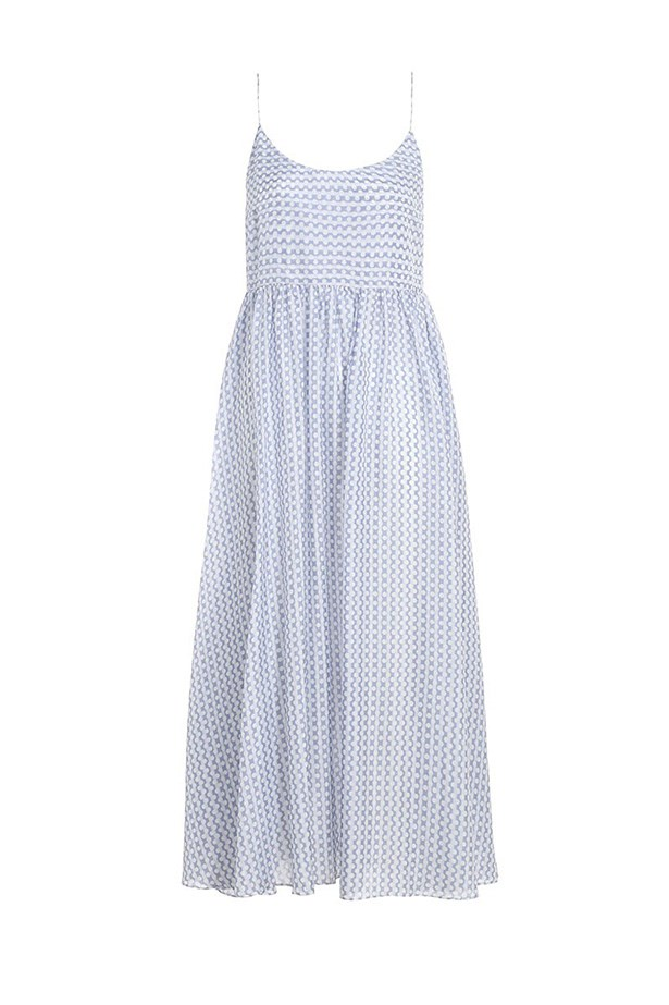 "Dress, $375, Zimmermann, <a href=""http://www.zimmermannwear.com/the-latest-1/confetti-gathered-scoop-dress.html "">zimmermannwear.com</a>"