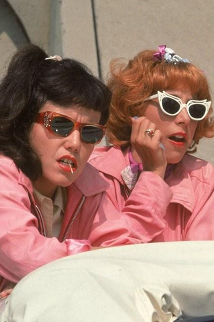 """Summer lovin': the """"Pink Ladies"""" in <em>Grease</em> (1978) had some <em>major</em> eye-candy getup."""
