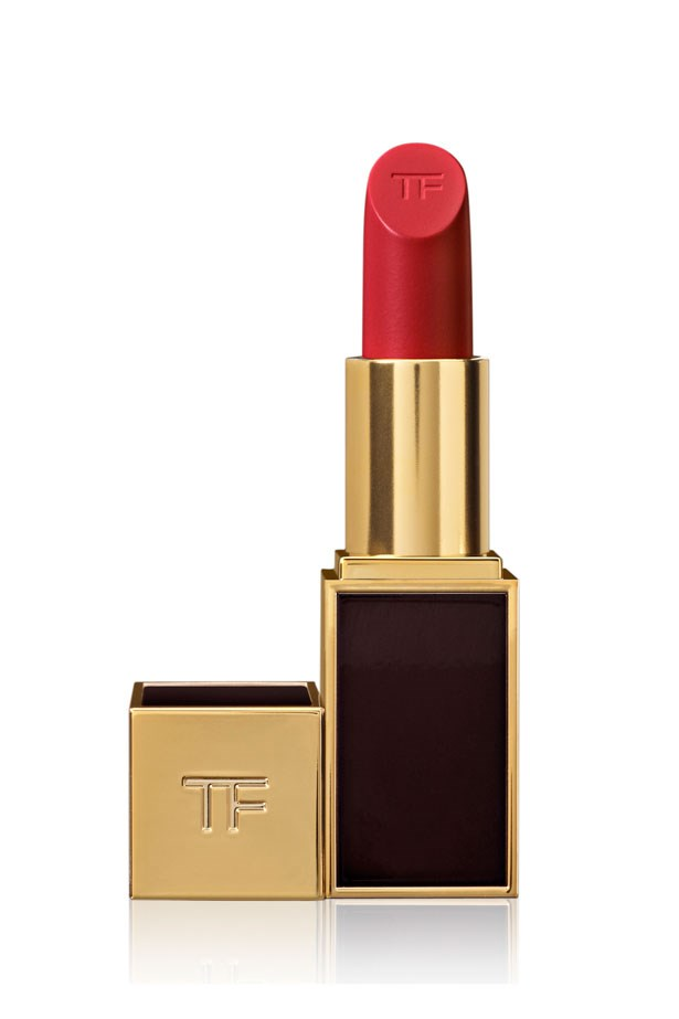 "Lip Color in Cherry Lush, $68, Tom Ford, <a href=""http://www.tomford.com/"">tomford.com</a>"