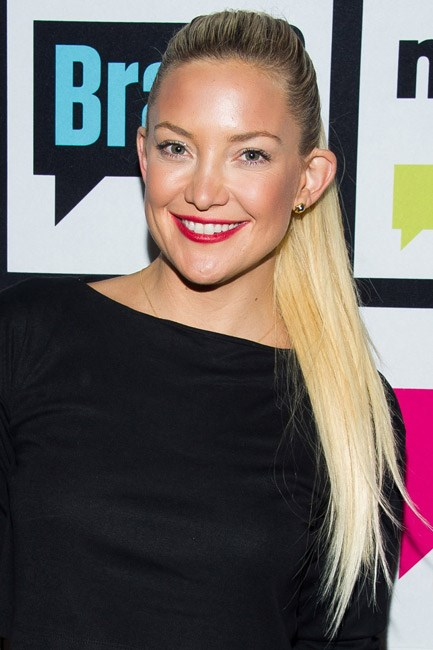 There wasn't a hair out of place when Kate Hudson flaunted a high-top ponytail.
