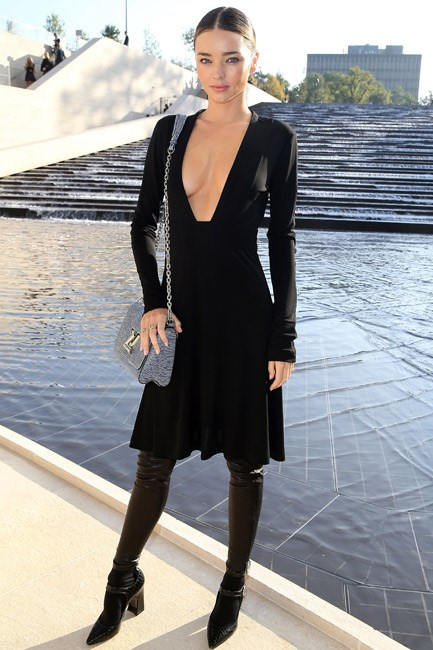 <b>Dare: Take the plunge</b><br> Master of the tactical reveal, Miranda Kerr schools us in how a serious flash of skin can be balanced out by wearing a ladylike Louis Vuitton dress. Perfection.