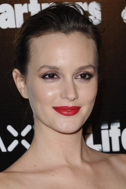<strong>Eyeshadow + Lipstick = Leighton Meester</strong><br><br> Here's some gossip: this girl is a <em>major</em> beauty muse.