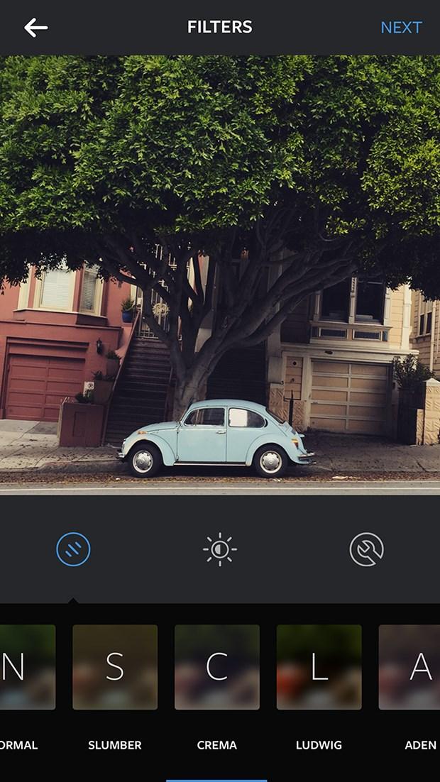 New instagram filter: Crema