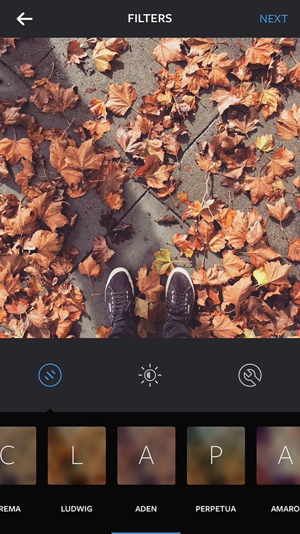 New instagram filter: Aden