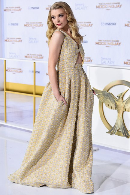 Pockets lent dramatic effect to Natalie Dormer's Rochas gown.