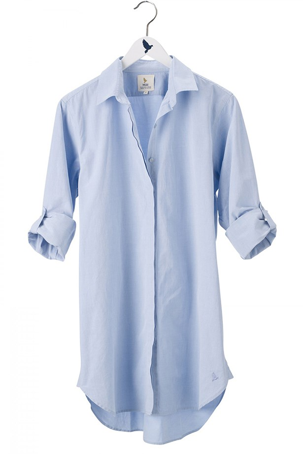"<a href=""http://www.mih-jeans.com/womens-shirts/the-oversize-shirt-italian-blue.html#zoom-1"">Shirt, $280, mih jeans, mih-jeans.com</a>"