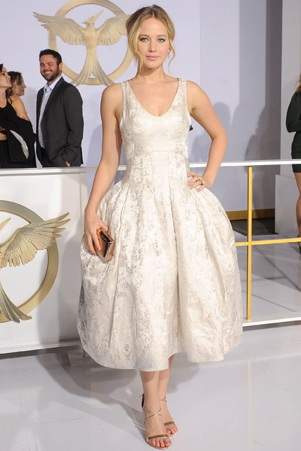 Flaunting just the right amount of frou-frou, Jennifer Lawrence was delightful in Dior couture.