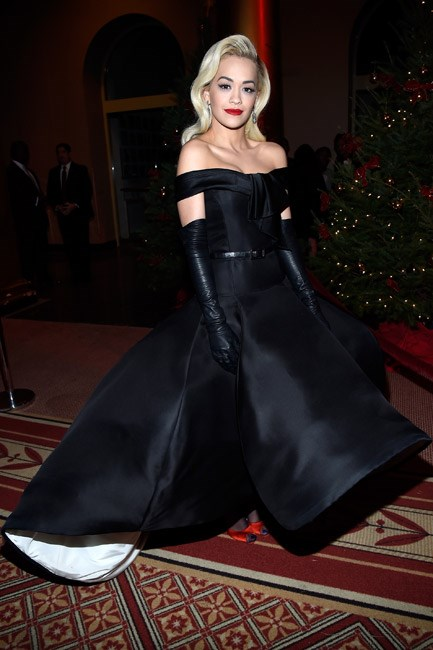 Rita Ora looked regal in Ralph & Russo couture.