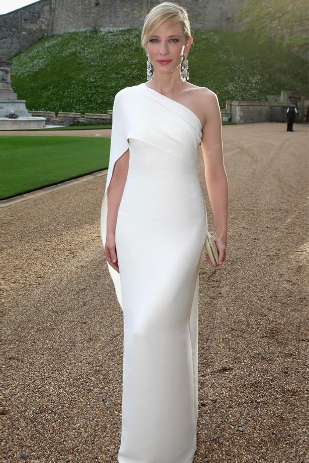 Cate Blanchett <br> Wearing: Ralph Lauren <br> Where: The Royal Marsden Dinner at Windsor Castle
