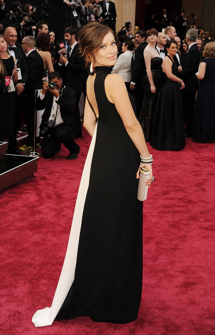 Olivia Wilde <br> Wearing: Valentino <br> Where: Oscars 2014 <br>