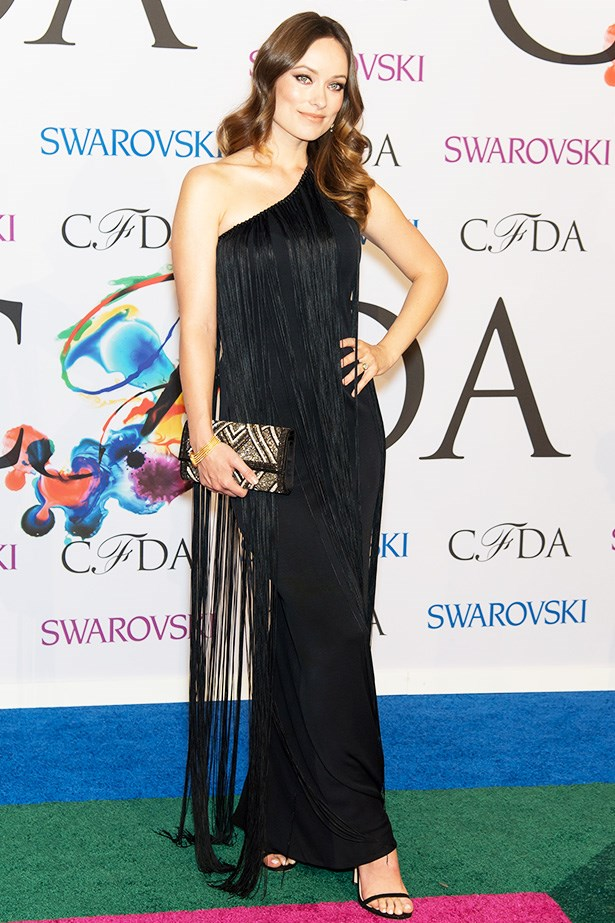 Olivia Wilde<br> Wearing: Mollie Parnis <br> Where: The 2014 CFDA Fashion Awards