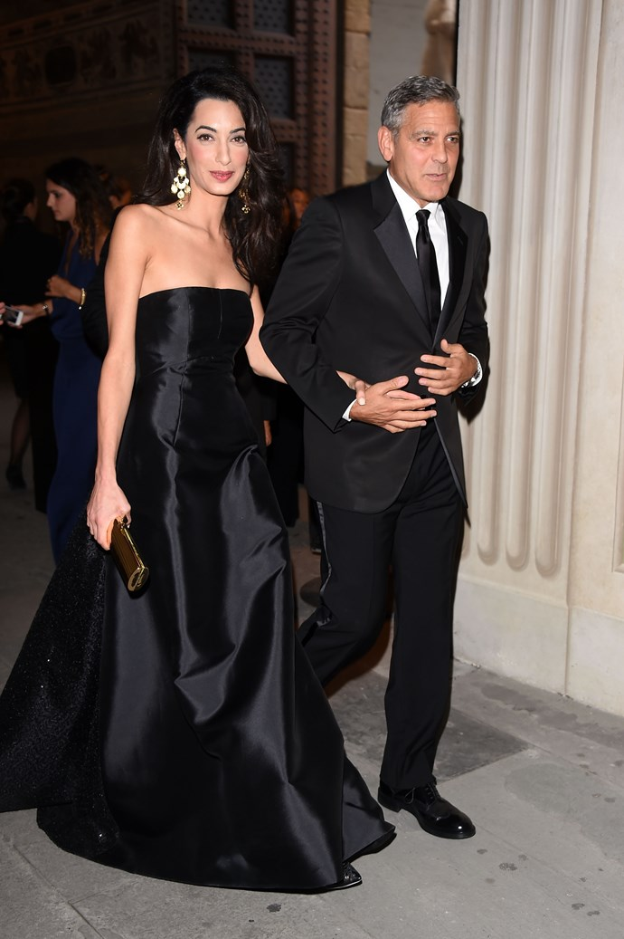 Best newcomer: Amal Clooney <br> Wearing: Dolce & Gabbana <br> Where: Celebrity Fight Night In Italy