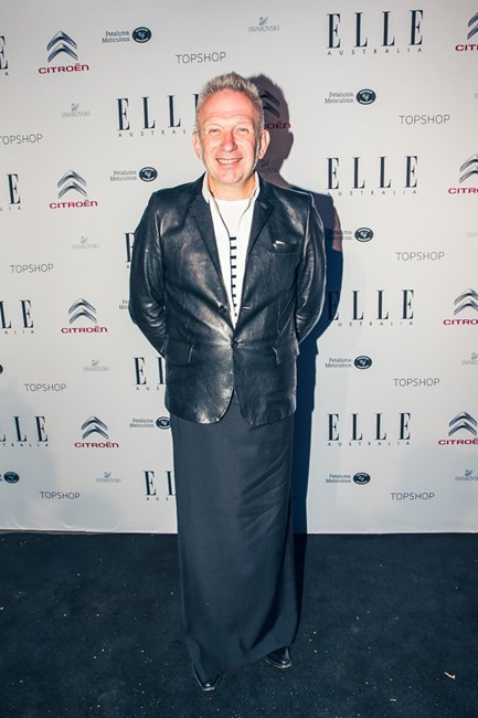 <strong>C'est Chic</strong> <br>Legendary designer Jean Paul Gaultier is honoured with an exhibition at the National Gallery of Victoria in Melbourne, swings by the ELLE Australia Style Awards, then receives our Icon award. He may have retired from ready-to-wear but he still rules our runway.<br/>
