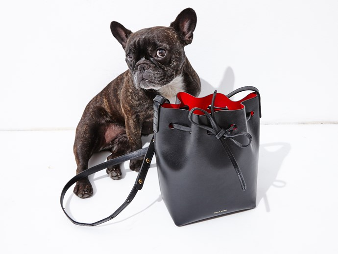 Day 4: This <strong>Mansur Gavriel</strong> bucket bag was super hard to track down, but naturally, Ninja sniffed one out.