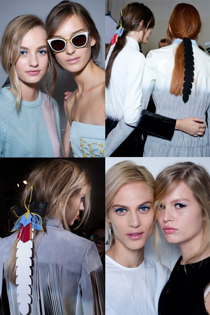<strong>The Tresses Trimmings</strong><br><br> Juxtapose an undid ponytail with an haute high-fashion accessory for the ultimate nonchalant chic.<br><br> <em>The Runway muse: Fendi</em>