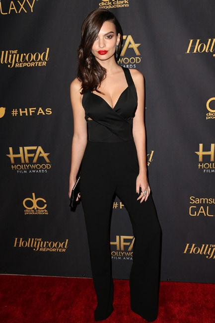 <strong>Emily Ratajkowski</strong><br><br> <strong>DIALED-UP:</strong> Putting on the pout – and the ritz in Diane Von Furstenburg.