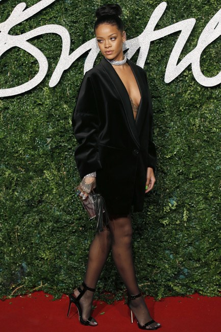 <strong>Rihanna</strong><br><br> <strong>ANDROGYNOUS: </strong>Borrowing from the boys in Stella McCartney.