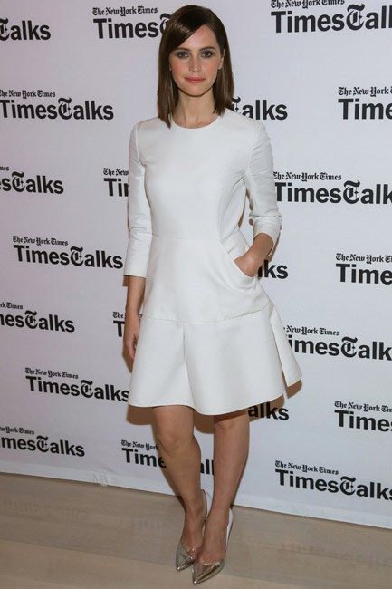 <strong>Felicity Jones </strong><br><br> <strong>PRETTY:</strong> This Dior number was girly in silhouette and in spirit.