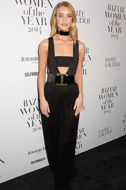 <strong>Rosie Huntington-Whiteley</strong><br><br> <strong>FASHION-FORWARD:</strong> Looking just a <em>little</em> bit dominatrix in Balmain.